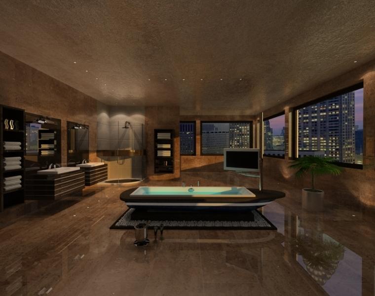 3D-Luxusbad-Visualisierung